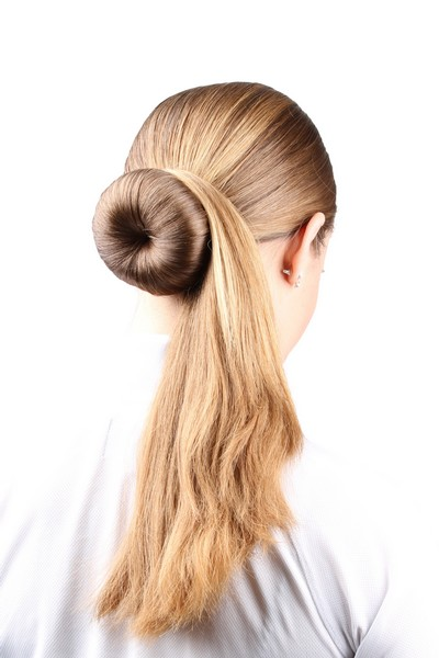You Start With Making A Normal Donut Hairstyle. Then Put All The Hair On  The Right Side As On The Picture. 2.