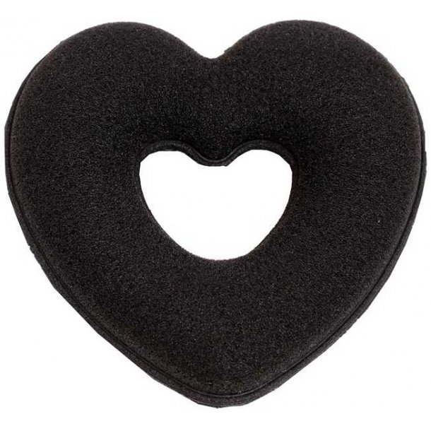SD® Heart Dressage donut in Black. H-104