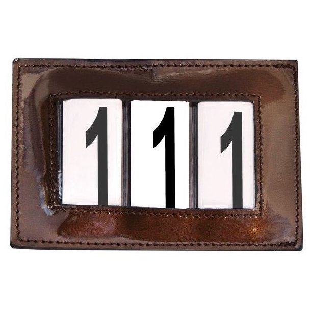 SD® Patent number holder in brown. O-107