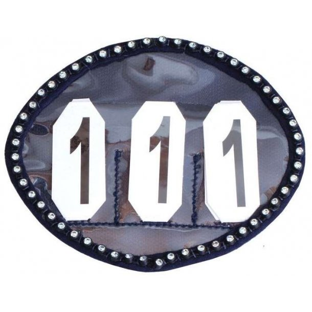 SD® Crystal number holder in navy blue. O-108
