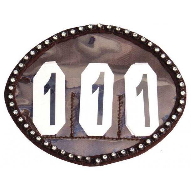 SD® Crystal number holder in brown. O-108