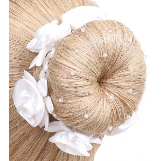 SD® Hairnet with Crystal beads. Blond K-111