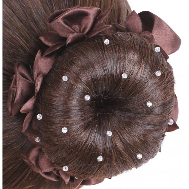 SD® Hairnet with Crystal beads. Brown. K-111