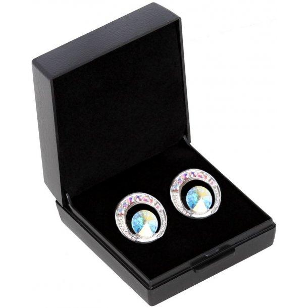 SD® De Luxe earrings in Crystal AB. B-139