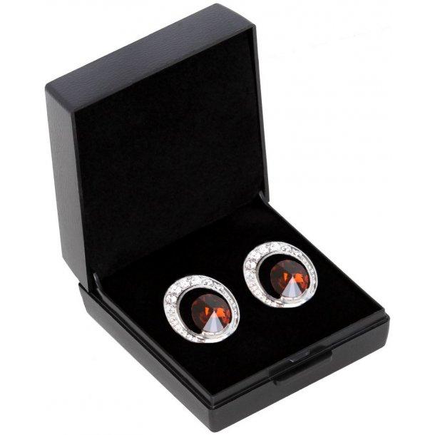 SD® De Luxe earrings in Smoked Topaz. B-139