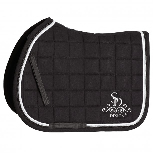 SD® Secret Shine Saddle pad in Black. Only jump cob size. D-113