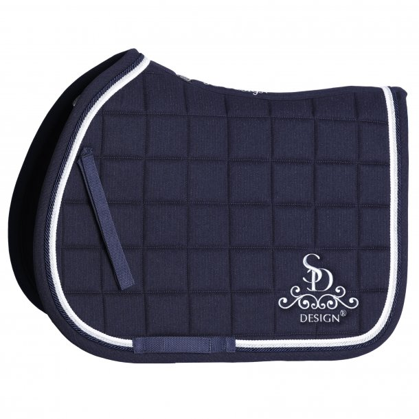 SD® Secret Shine Saddle pad in Navy. Only jump cob size. D-114