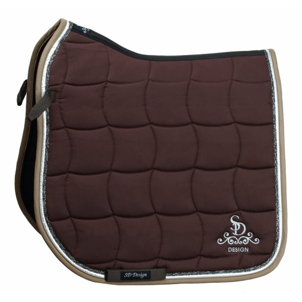 SD® Glitter saddle pad in brown. D-136