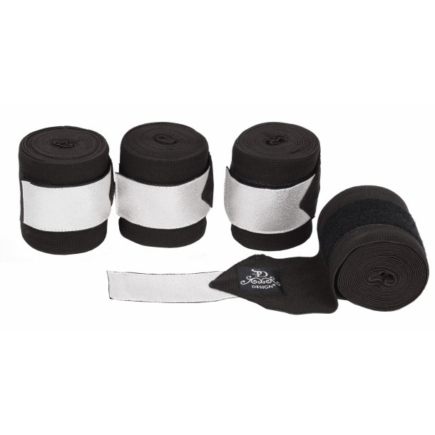 SD® Glitter Elastic Bandages in Black/Silver. D-141
