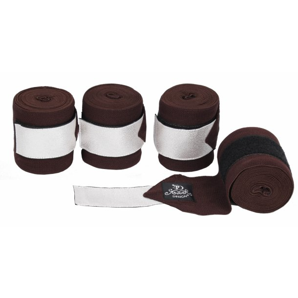 SD® Glitter Elastic Bandages in Brown/Silver. D-143