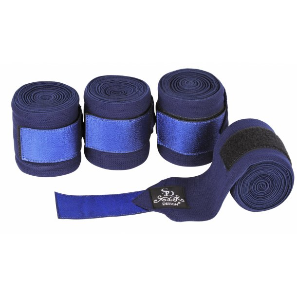 SD® Glitter Elastic Bandages in Navy/Navy. D-168