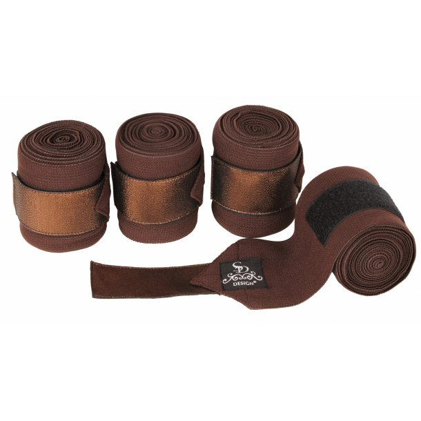 SD® Glitter Elastic Bandages in Brown/Brown. D-169