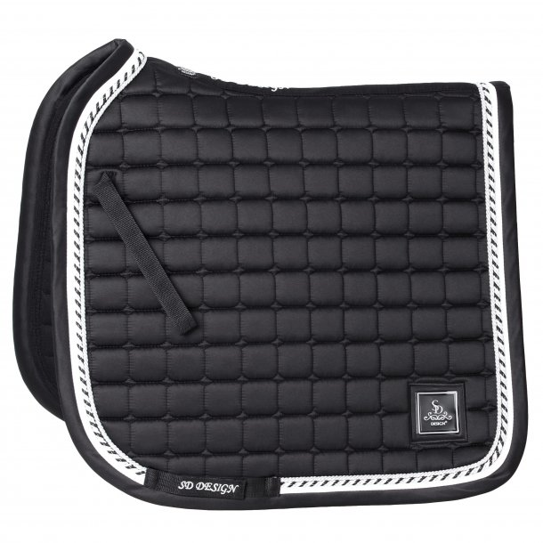 SD® Signature saddlepad in Pitch Black. D-185