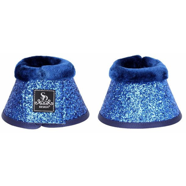 SD® Glitter bell boots in navy. O-215