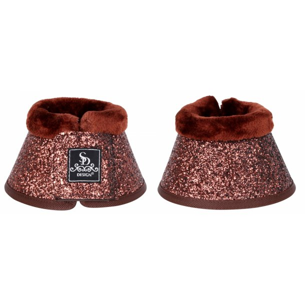 SD® Glitter bell boots in brown. O-216