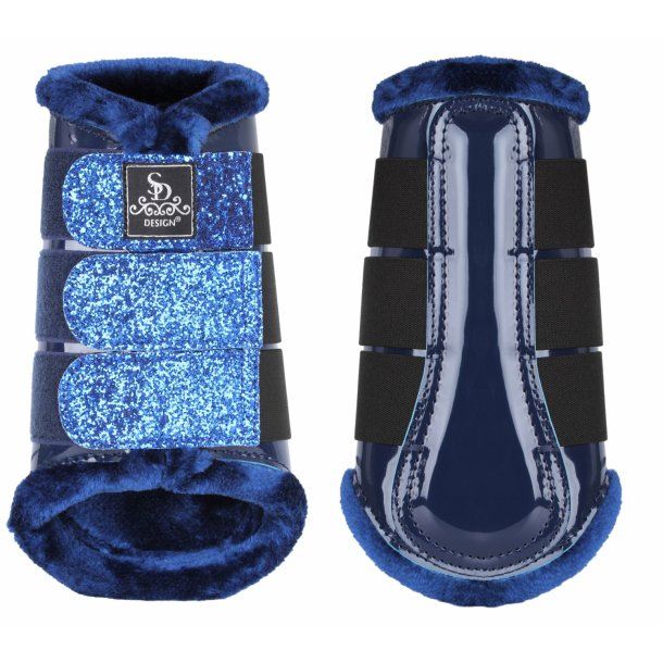 SD® Glitter Dressage Boots in navy. O-219