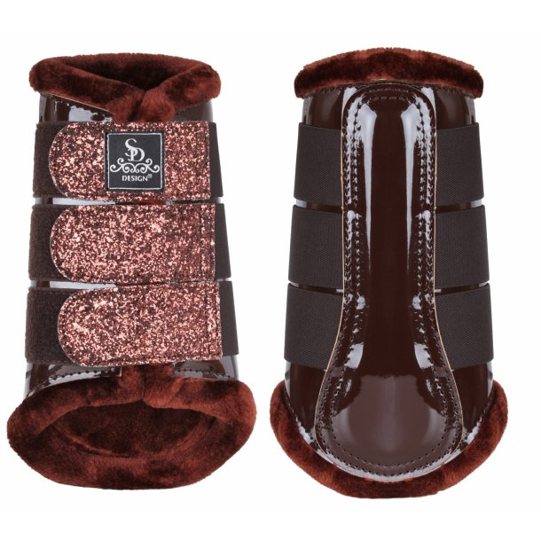 SD® Glitter tendon Boots in brown. O-220