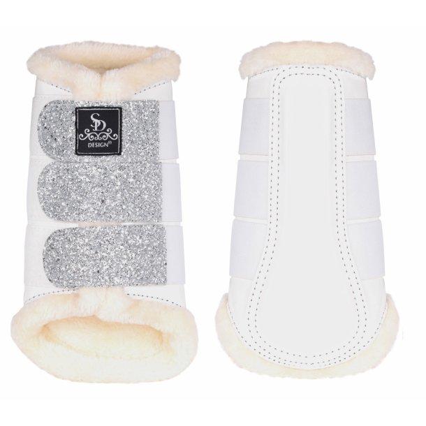 SD® Glitter Dressage Boots in white. O-221