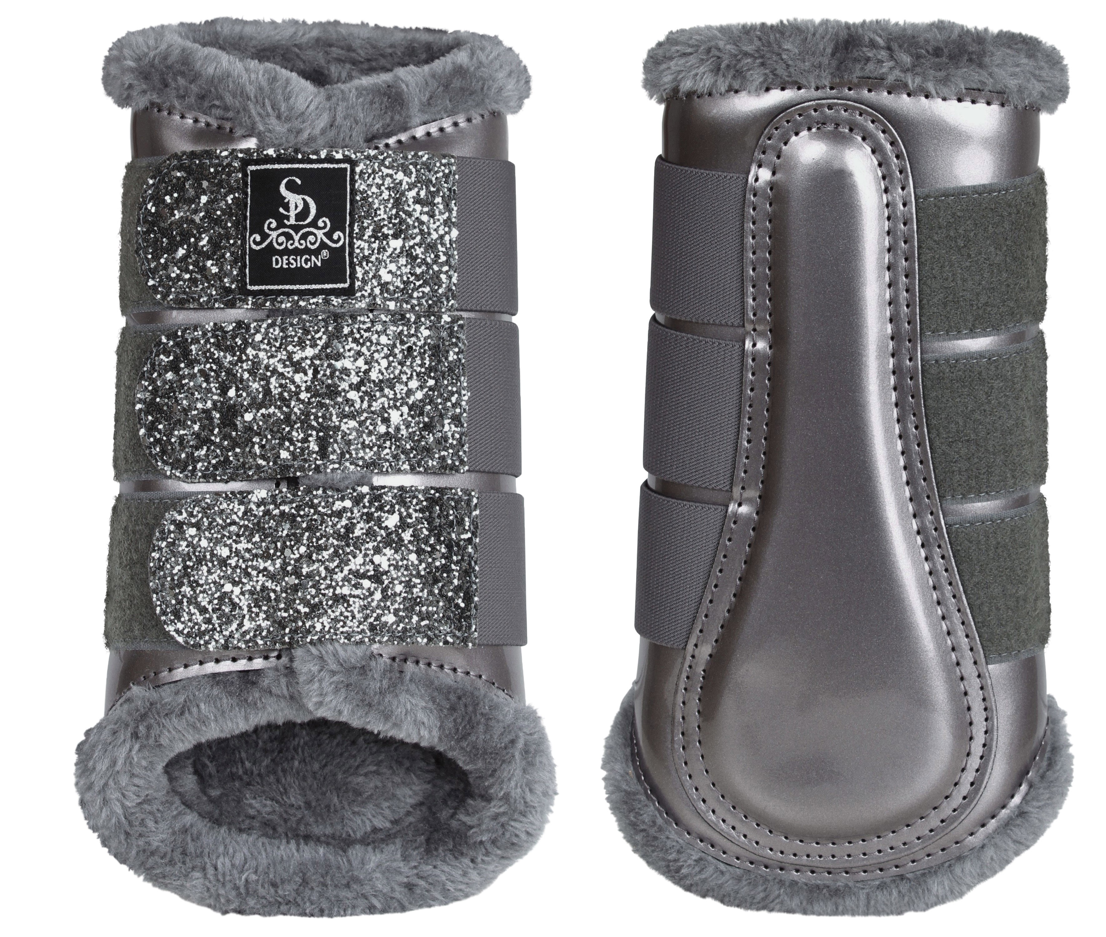 8284502930 SD® Glitter Dressage Boots in grey. O-237