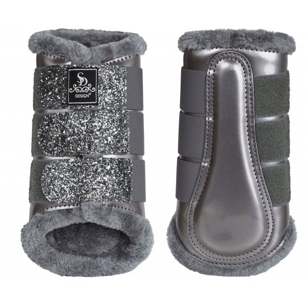SD® Glitter Dressage Boots in grey. O-237