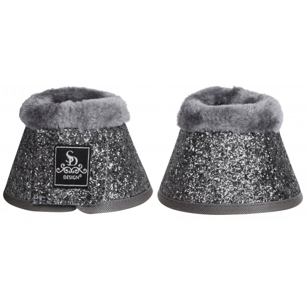 SD® Glitter bell boots in grey. O-239