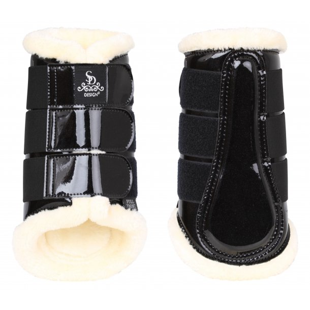 SD® Sparkle Dressage Boots in black. O-241