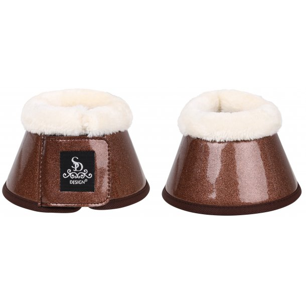 SD® Sparkle bell boots in brown. O-246