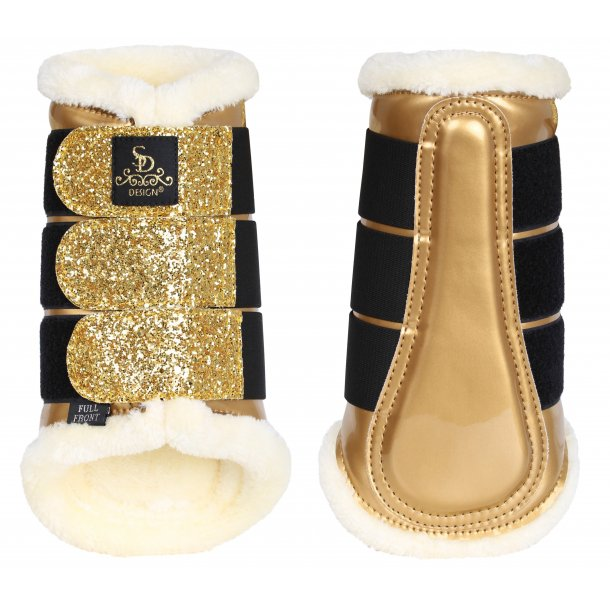 SD® Glitter Dressage Boots in gold. LIMITED EDITION. O-251