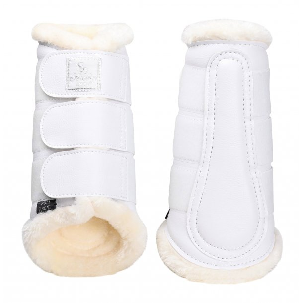 SD® Show Collection Dressage Boots in white. O-259