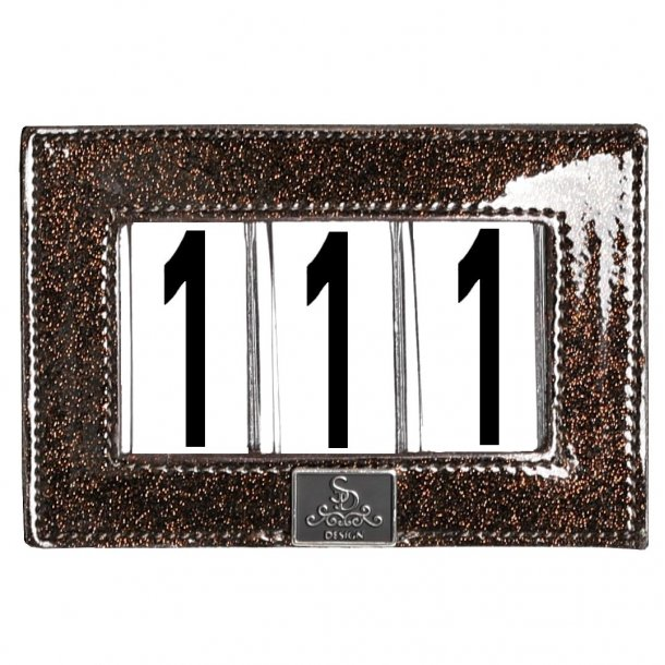SD® Mystery number holder. Brown Glitter. O-281