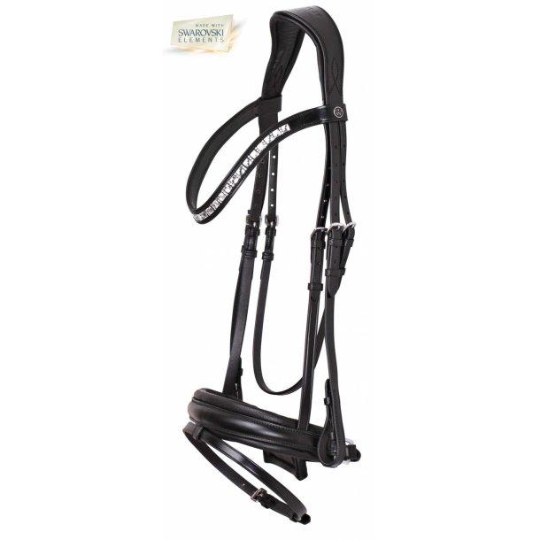SD® CROWN Ramiro II Premium Bridle Black/Black. P/C/X-F. R-401