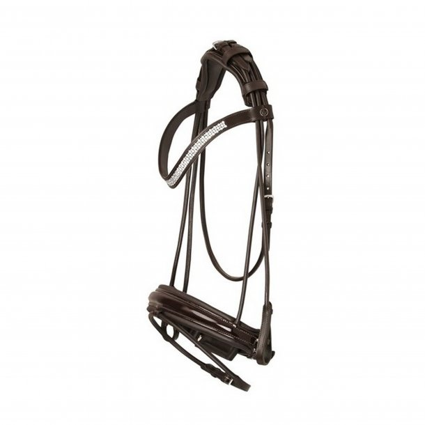 SD® CROWN Masterpiece Rolled Bridle in Brown/Brown/Patent. R-411