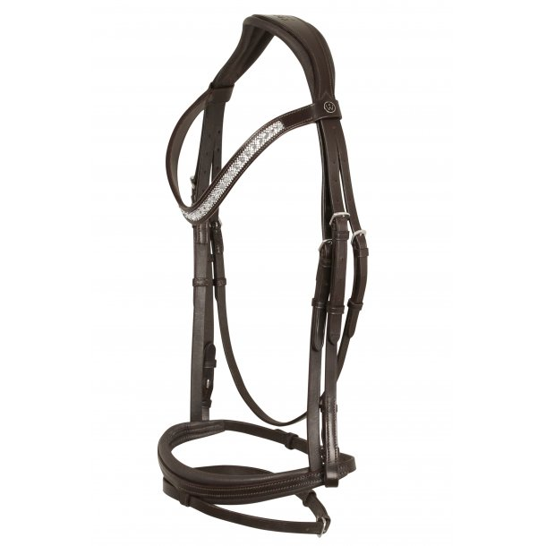 SD® CROWN Casello bridle in brown/brown. R-735