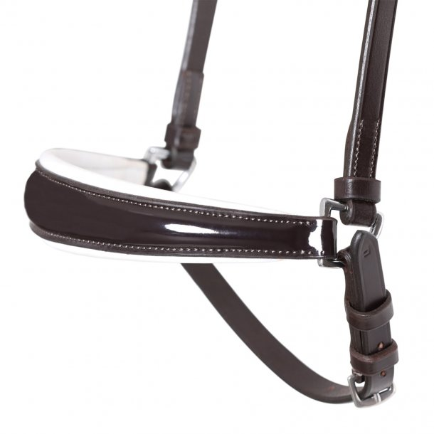 SD® Drop Noseband Brown/White/Patent. R-785