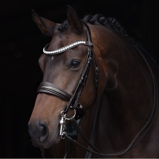 SD® Mystery Double bridle in Black/Black/Glitter patent. R-799