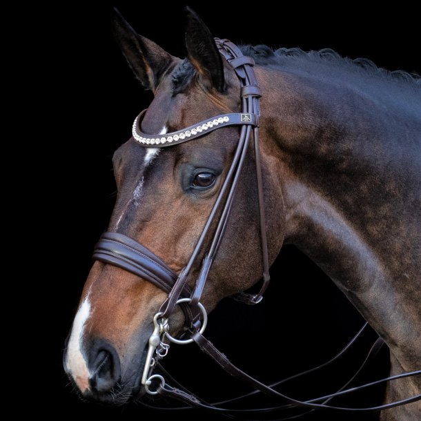 SD® Belissimo rolled double bridle in brown/brown. R-837