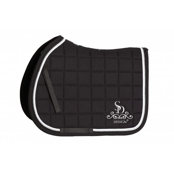 SD® Secret Shine Saddle pad in Black. COB. D-113