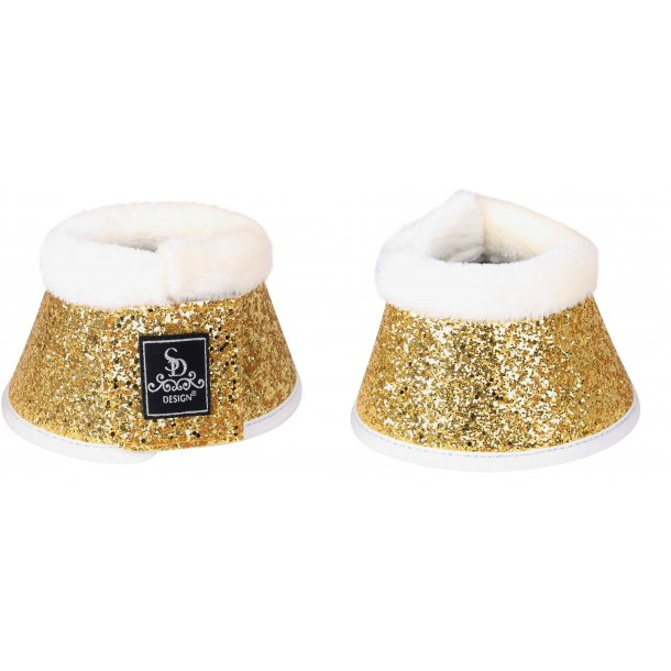 SD® Glitter bell boots in gold. O-240